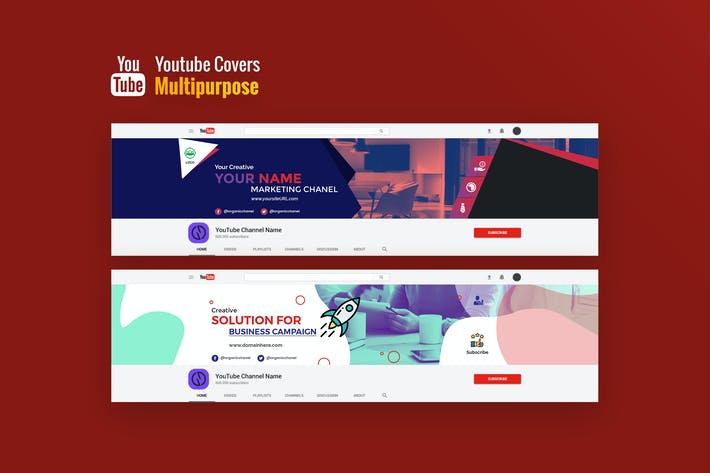 Cover Image For Multipurpose, Business Youtube Covers