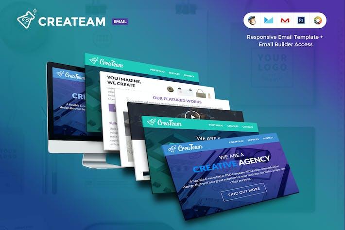Thumbnail for CreaTeam  E-newsletter Template