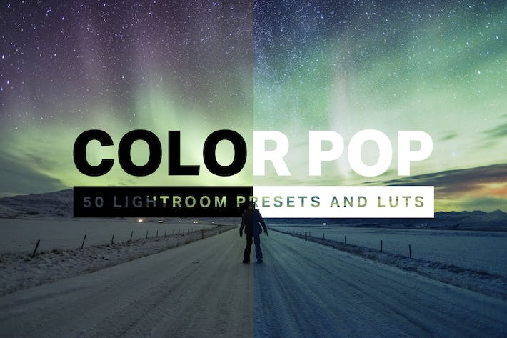 Thumbnail for 50 Color Pop Lightroom Presets and LUTs