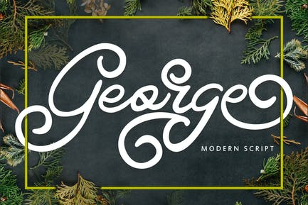 George | Modern Swirl Font