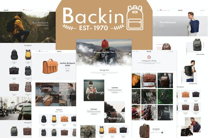 Thumbnail for Backin - Bolsas Y Mochila Moderna Shopify Tema