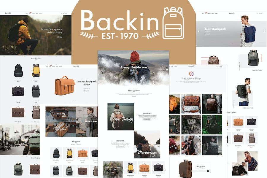 Backin - Bags And Backpack Modern Shopify Theme - product preview 0