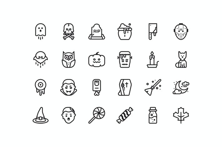 Cover Image For 24 Halloween icons