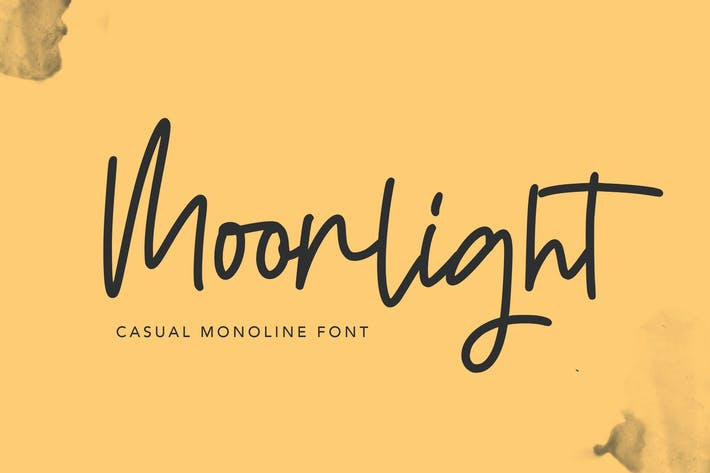 Thumbnail for Moonlight | Casual Monoline Font