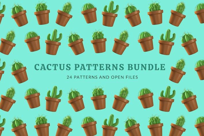 Thumbnail for Kaktus Pflanzenmuster Bündel