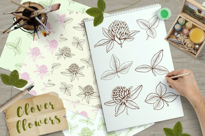 Thumbnail for Clover Flowers and Leaves