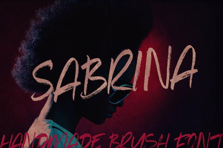 Thumbnail for Sabrina Brush Font