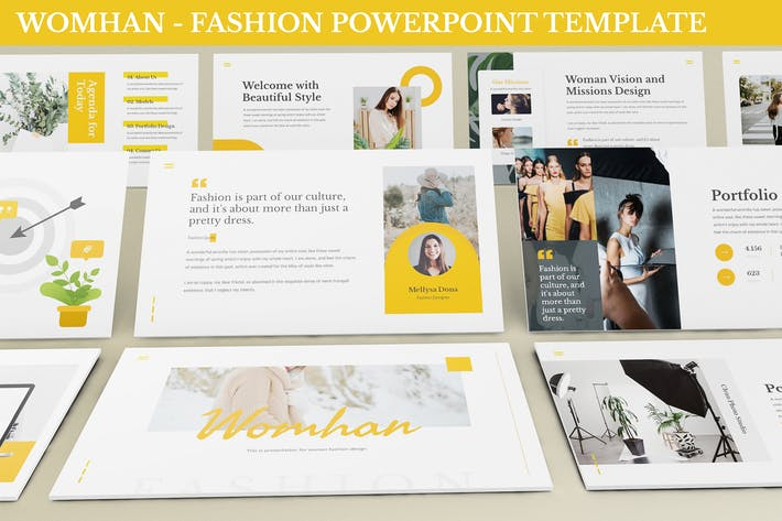 Thumbnail for Womhan - Fashion Powerpoint Template