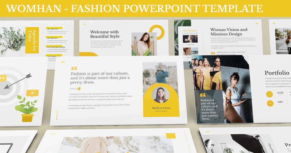 Download Womhan - Fashion Powerpoint Template by SlideFactory