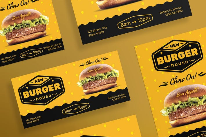 Thumbnail for Burger House Flyer and Poster Template