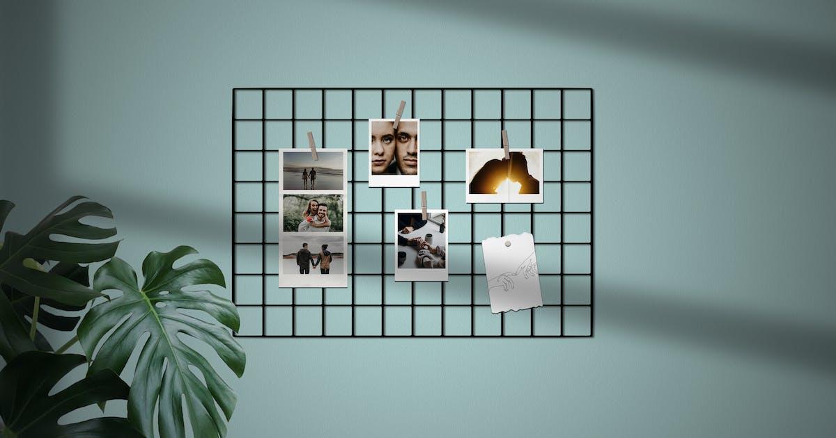 Download Minimalist Polarid Mockup 7 by MartypeCo