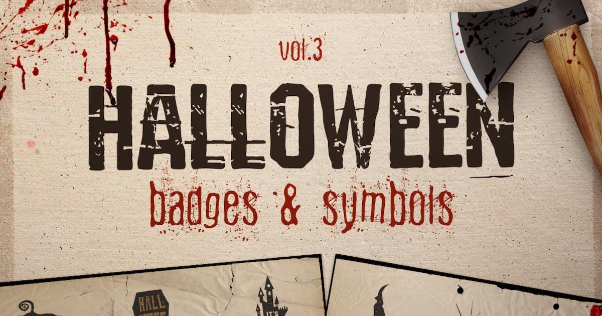 Halloween Badges / Retro Logos Set. Vol.3 by JeksonJS
