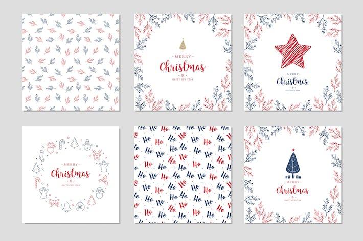 Thumbnail for Christmas Card Set Vector vol.2