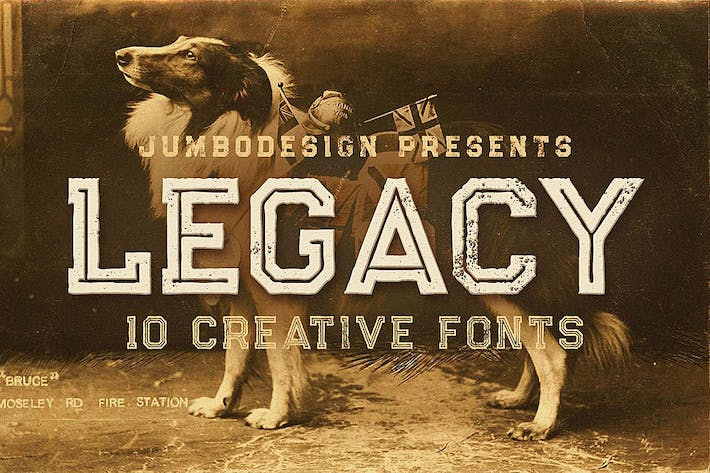Thumbnail for Legacy - Vintage Style Font