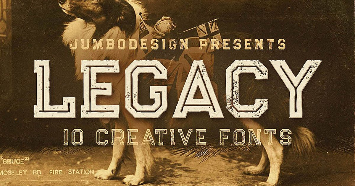 Download Legacy - Vintage Style Font by cruzine