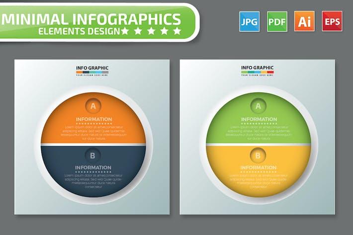 Thumbnail for Minimal 2 Circle infographic Design
