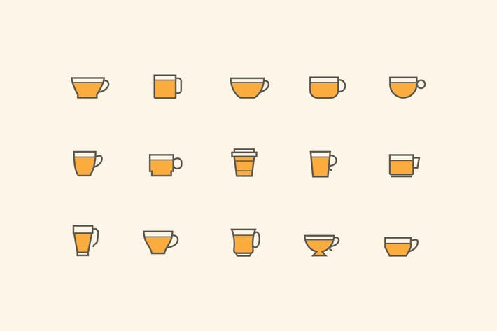 Thumbnail for 15 Cup and Mug Icons