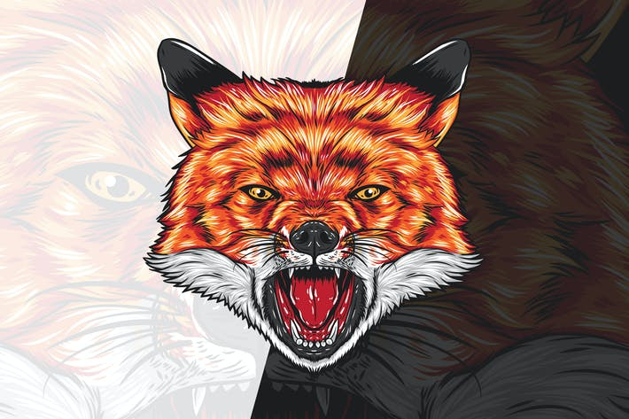 Thumbnail for Angry Fox Head