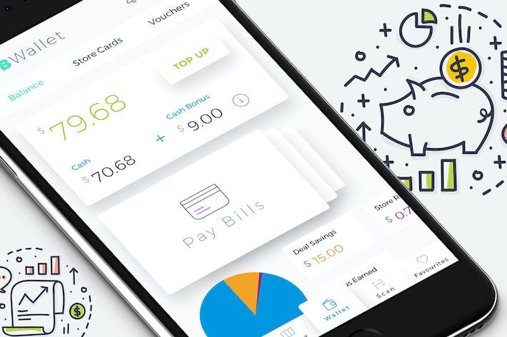 Thumbnail for B Wallet Dashboard 7 Mobile Ui