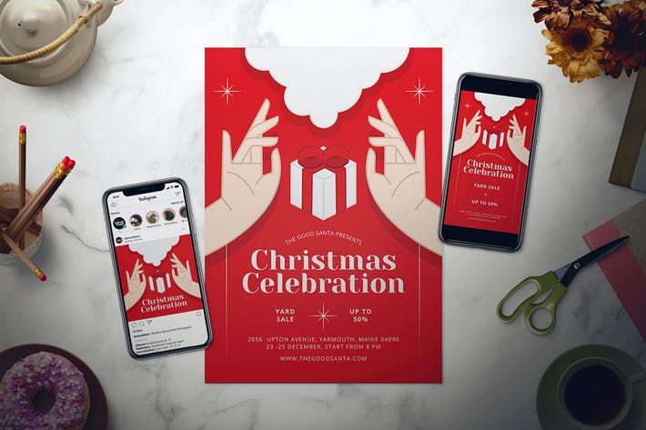 Thumbnail for Christmas Flyer Set