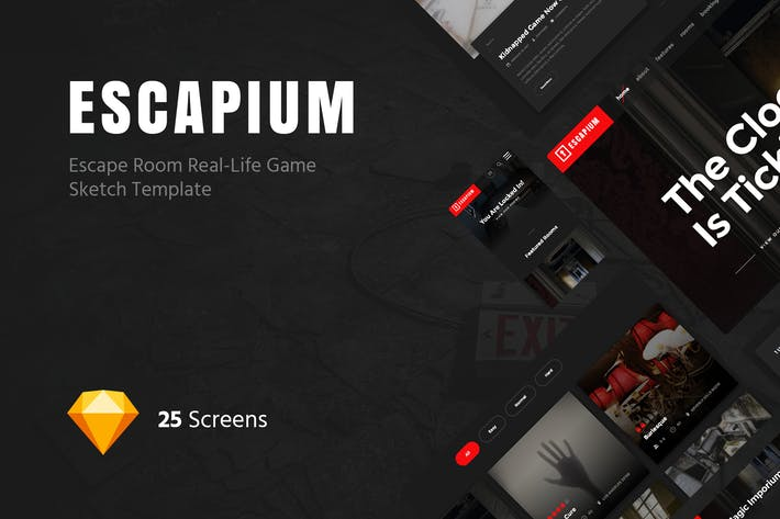 Thumbnail for Escapium - Escape Room Game Sketch Template
