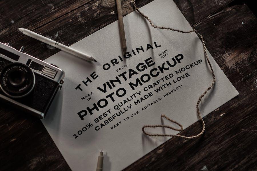 Vintage Paper Mockup