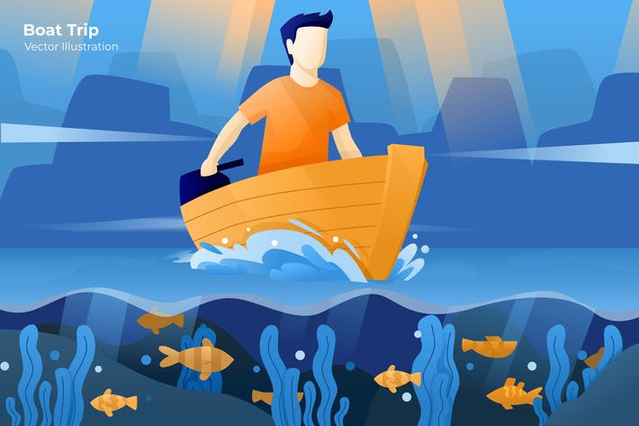 Thumbnail for Boat Trip - Vector Illustration