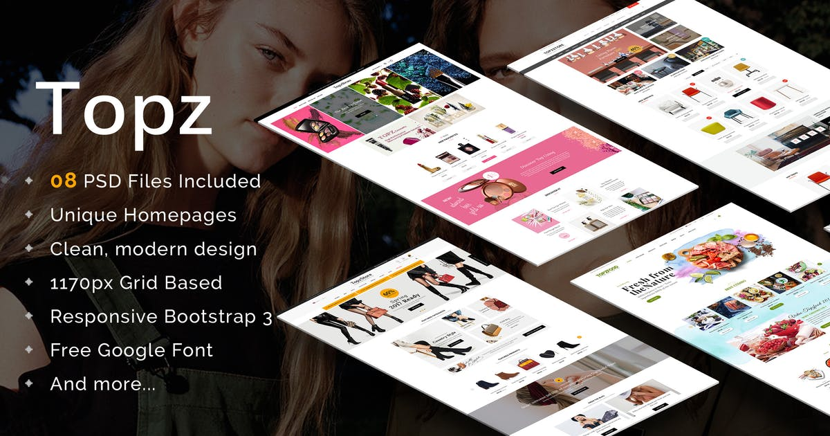 Download Topz - Multipurpose eCommerce PSD Template by magentech
