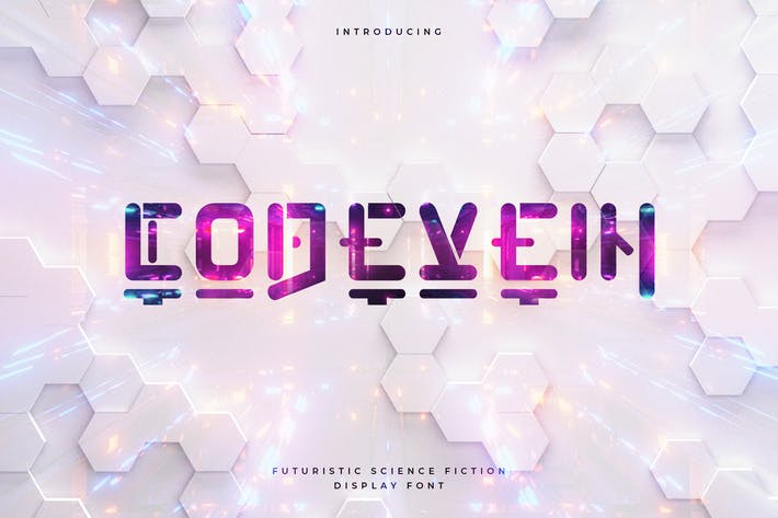 Thumbnail for Codevein - Futuristic Technology Typeface