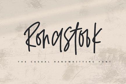 Ronastook - Minimal Handwritting Font