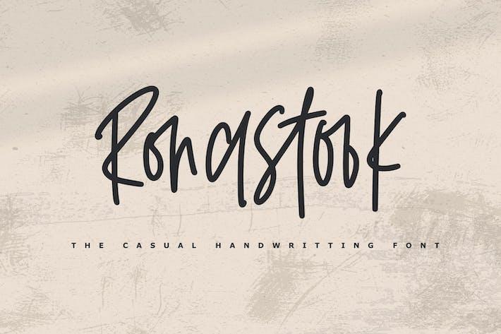 Thumbnail for Ronastook - Minimal Handwritting Font
