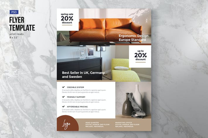 Thumbnail for Minimal Furniture Flyer Template