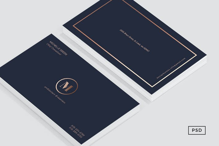 Navy blue metallic business card by 83oranges on envato elements navy blue metallic business card colourmoves
