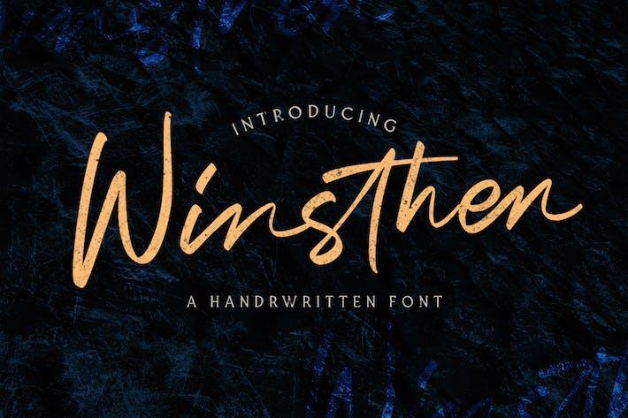 Thumbnail for Winthen - Ручной шрифт