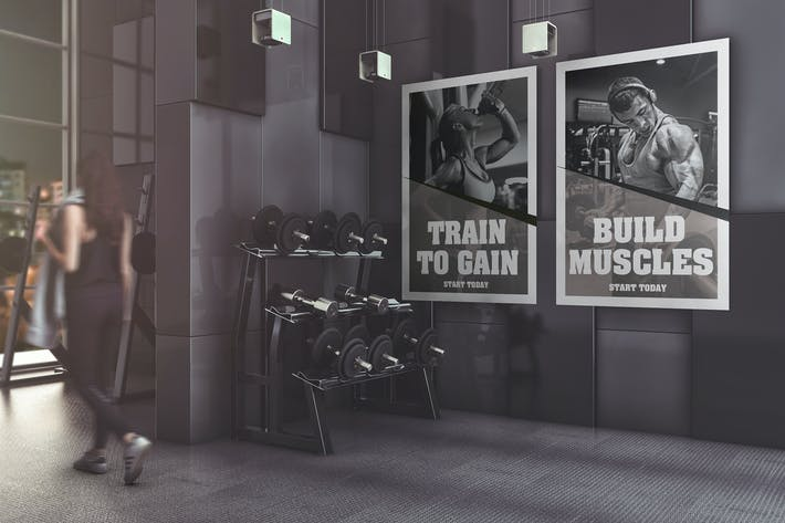 Gym Advertising Mockup