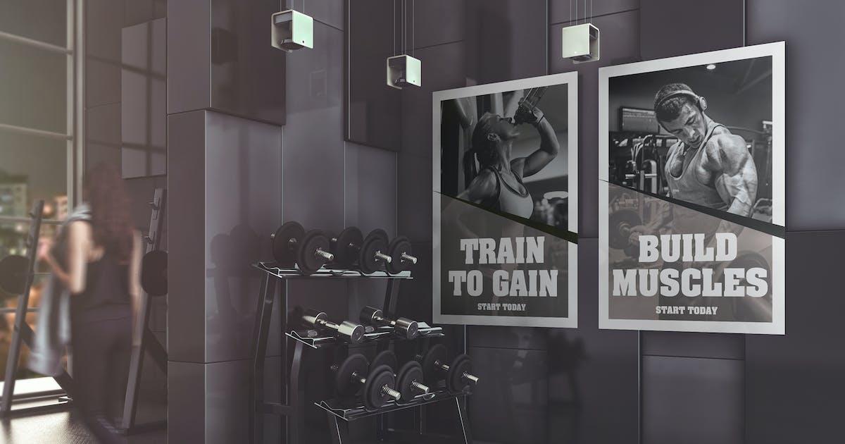Download Gym Advertising Mockup by StreetD