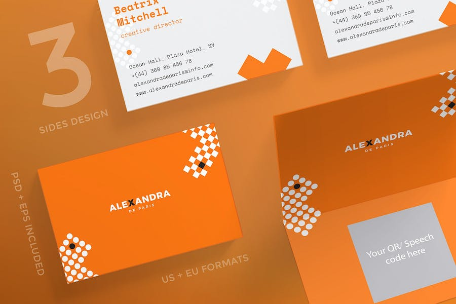 Hair Accessories Business Card Template
