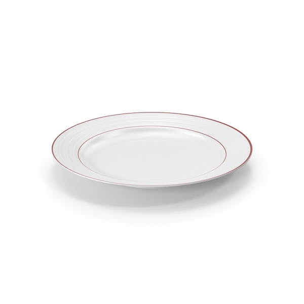 Roulette Salad Plate Red Band