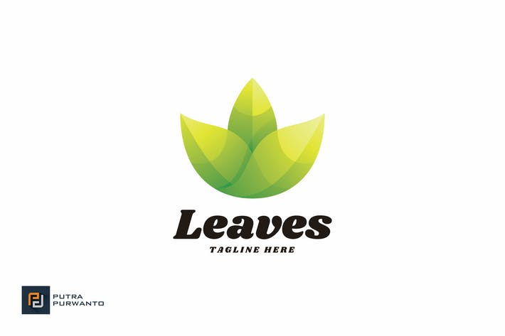 Thumbnail for Lotus Leaves - Logo Template