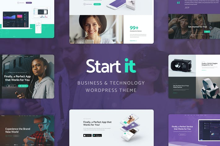 Thumbnail for Start It - Technology & Startup WP Theme