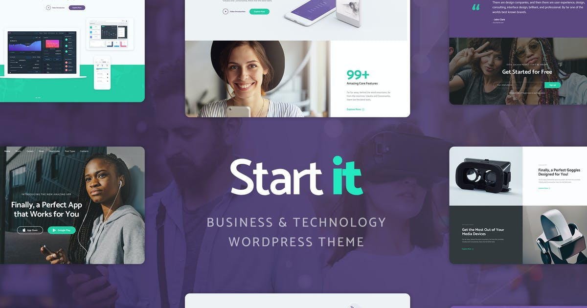 Download Start It - Technology & Startup WP Theme by cmsmasters