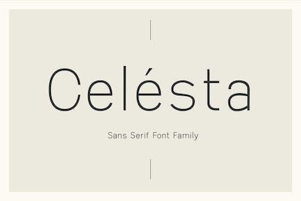 Celesta - Sans Serif Font