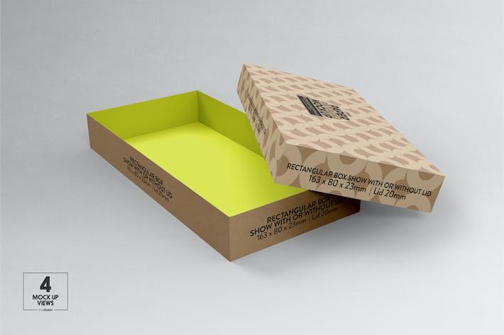 Thumbnail for Small Rectangular paper Box & Lid Mockup
