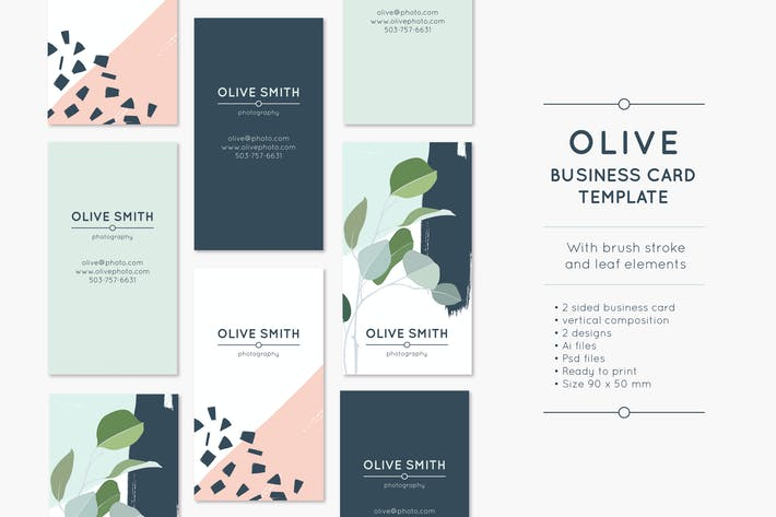 Thumbnail for Olive Business Card Template