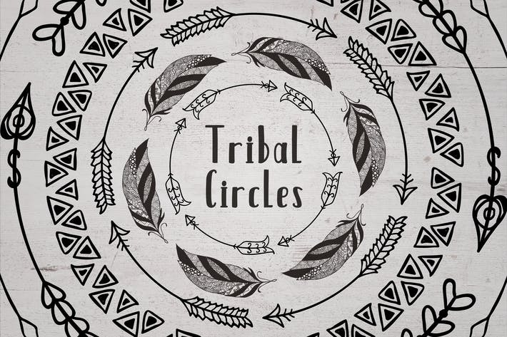 Thumbnail for 63 Tribal Circles. Logo & Badge