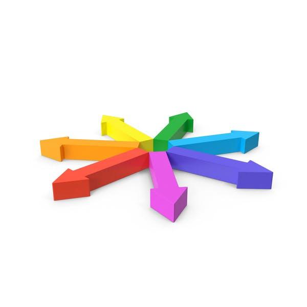 Arrow Circle Rainbow Outwards