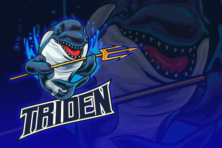 Thumbnail for Orca With Triden Spear Esport Logo