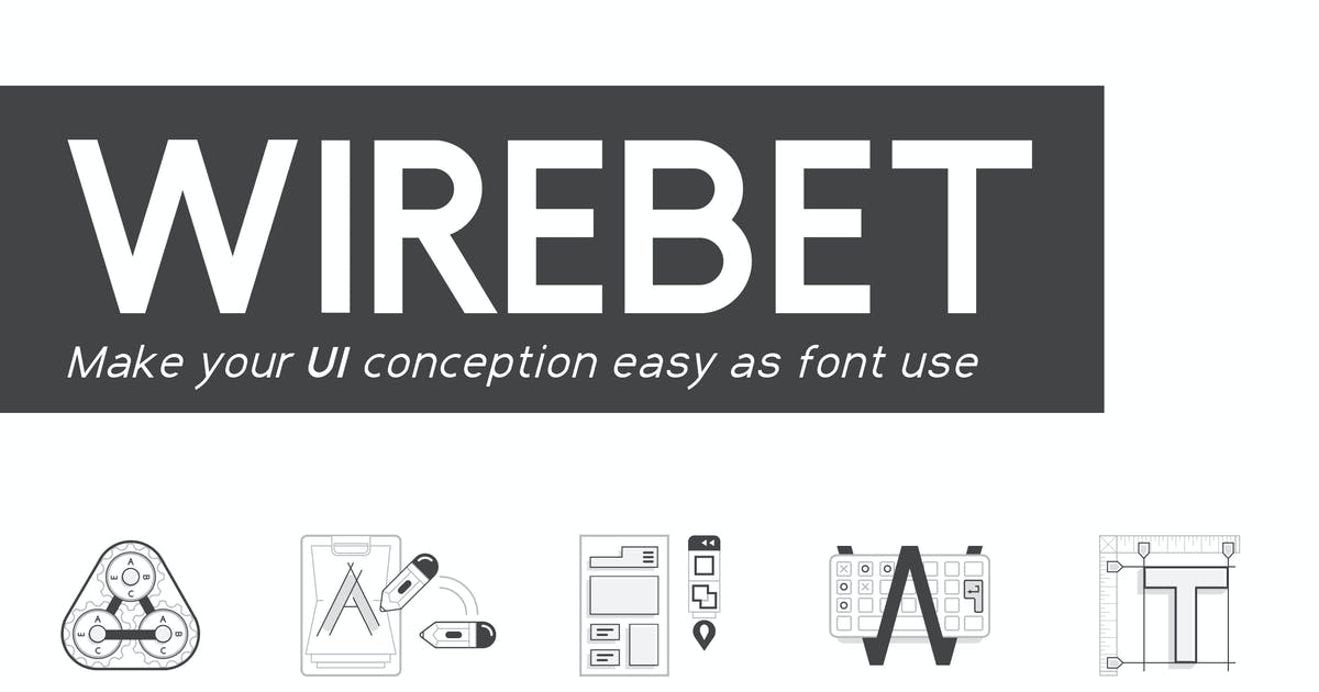 Download Wirebet Fonts by spovv