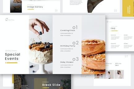 Cake Shop Google Slides Presentation Template