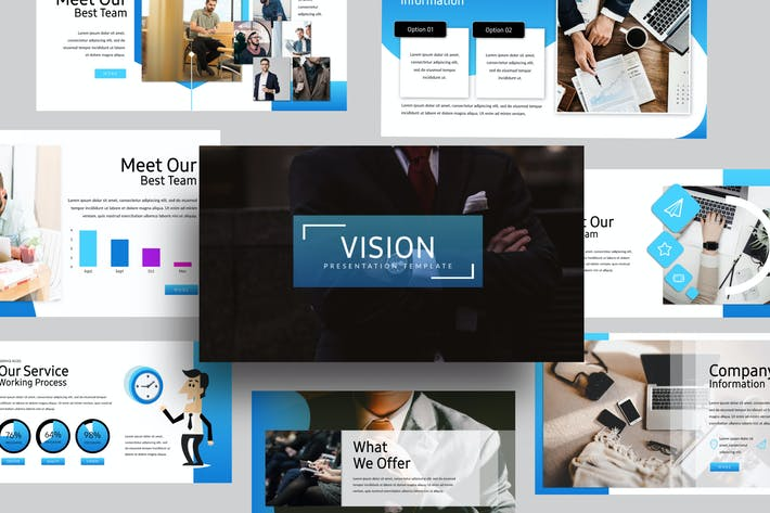 Thumbnail for Vision Google Slide Corporate